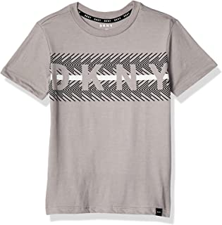 DKNY unisex-child LIT S/S C/NK STATIC PRINT W/DROP OUT LOGO ART TEE T-Shirt