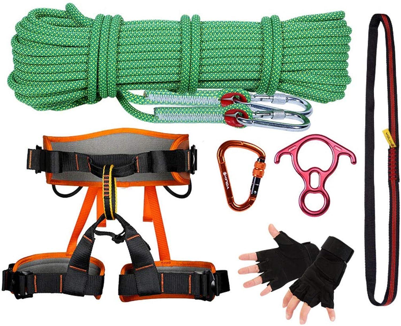 e92ec2be3eb76 MODKOY Kletterausrüstung Outdoor Seil Karabiner Harness Abenteuer  Ausrüstung Wild Survival Spider Set Klettern Zubehör - 7