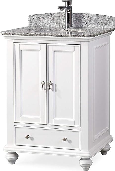 Amazon Com 25 Gillian Small Narrow Powder Room White Bathroom Vanity 9805w Tools Home Improvement
