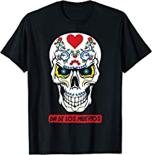 Sugar Skull Flowers Dia De Los Muertos Calavera Pun   T-Shirt