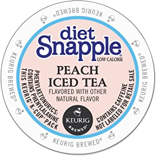 Snapple Diet Peach Iced Tea K-Cup for Keurig Brewers, 88 Count