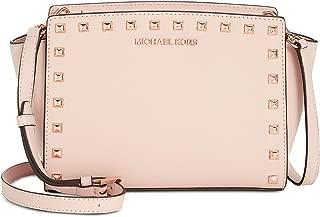 MICHAEL Michael Kors Selma Studded Medium Leather Messenger Bag