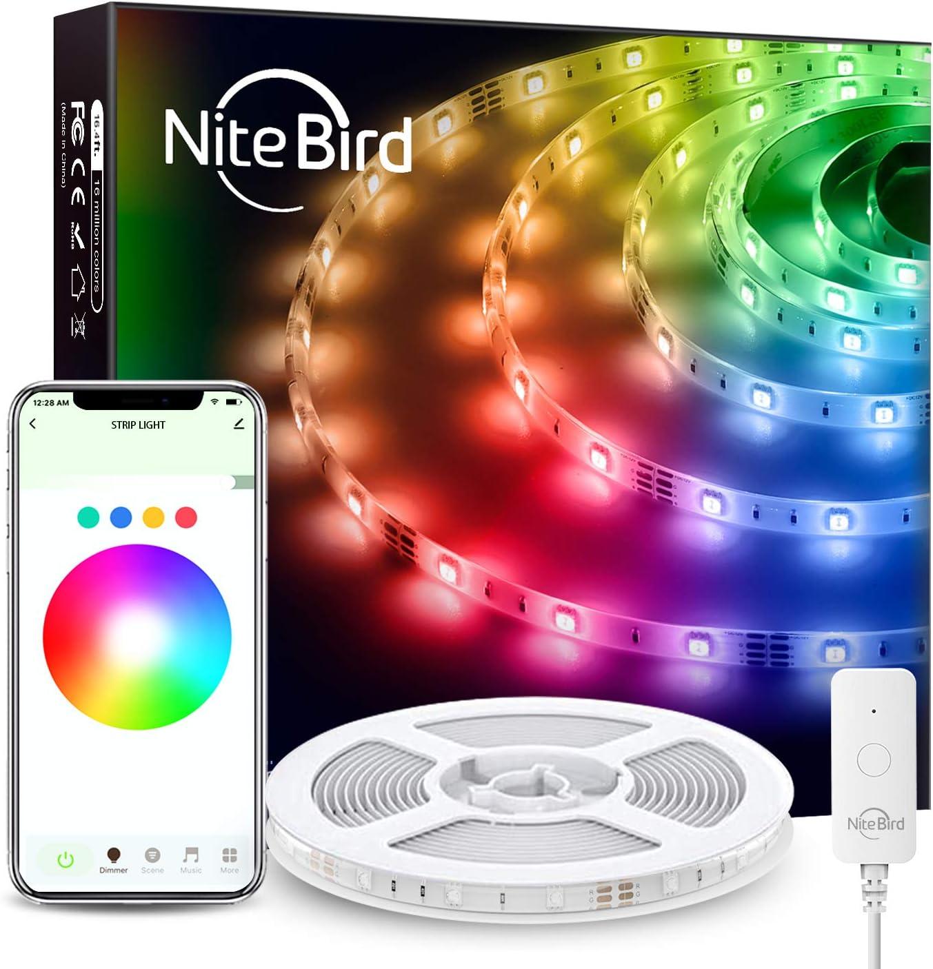 NiteBird Smart Topics on TV WiFi LED Strip Lights with Alexa 2021 new Works 16.4ft Goo