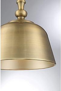 "Savoy House 7-3751-1-322 Berg Warm Brass 1 Light Pendant (12"" W x 14""H)"