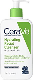 CeraVe Hydrating Face Wash | 12 Fluid Ounce | Daily Facial Cleanser for Dry Skin | Fragrance Free