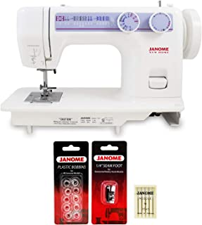 Janome 712T Treadle Sewing Machine with Janome 1/4 inch Seam Foot, 10 Janome Bobbins and Size 14 Needles