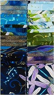 Benartex Kanvas DragonflyDance 40 2.5'' Strip-pies Blue