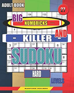 Adult book. Big Numbricks and Killer sudoku. Hard levels.: Very large font. Glorious puzzles. (Sudoku and large size puzzles)