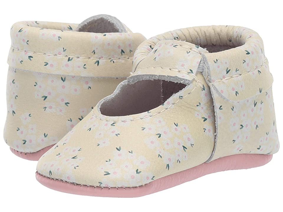 Freshly Picked Soft Sole Ballet Flat High Tea (Infant/Toddler) (Yellow Ditzy) Girls Shoes