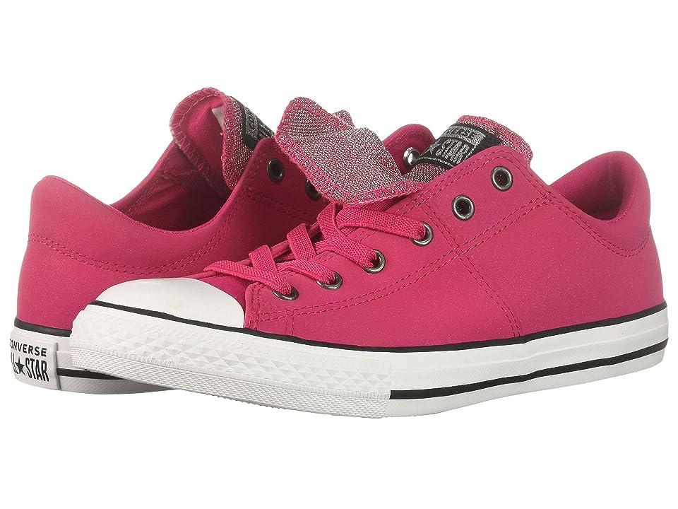 Converse Kids Chuck Taylor(r) All Star(r) Maddie Ox (Little Kid/Big Kid) (Pink Pop/Black/White) Girl