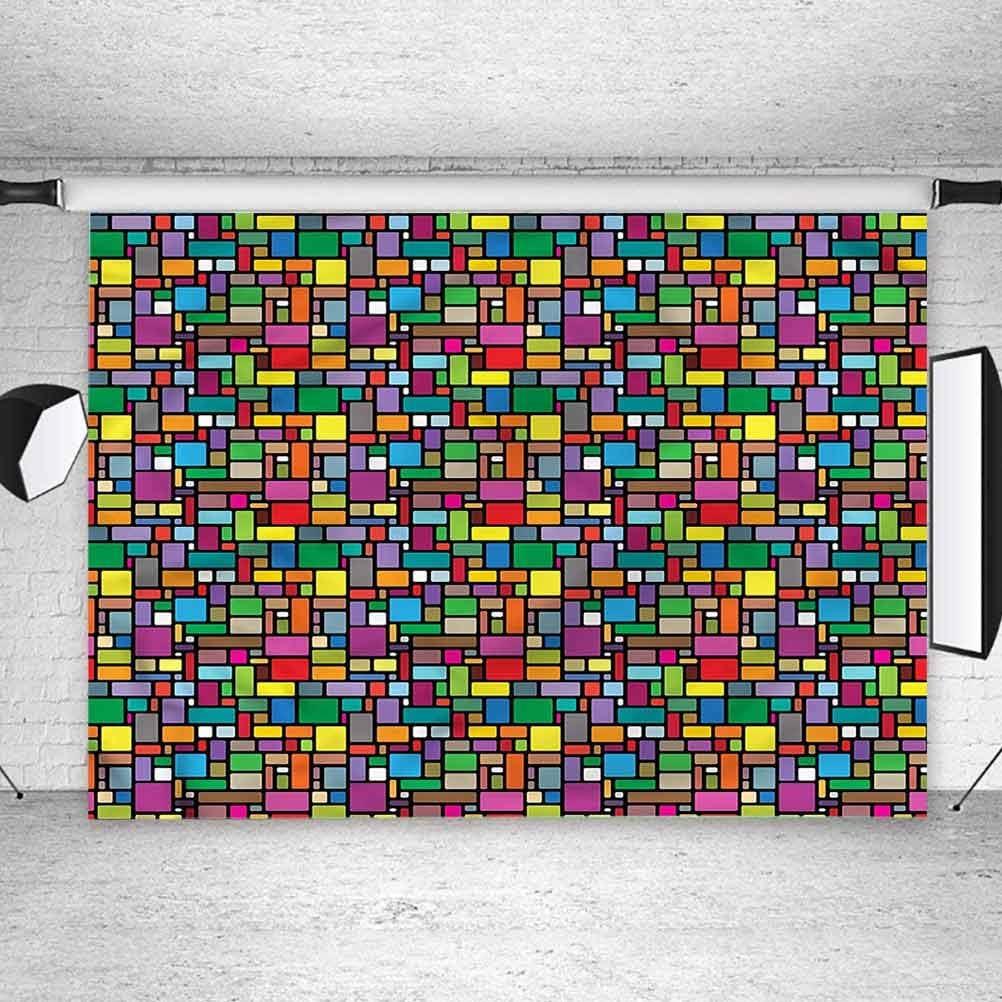 10x10FT Vinyl Photography Backdrop,Geometric,Abstract Foliage ...