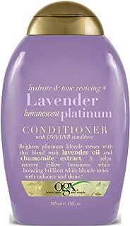 Ogx Conditioner Lavender Platinum Tone Reviving 13 Ounce (385ml) (3 Pack)