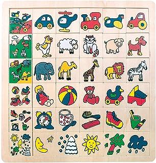 """Bino & Mertens 84079 Legepuzzle """"vad tillhör wohin"""", 36 tlg, färgglad, 30 enskilda motiv ska hänföras till de 6 motivbilde..."""