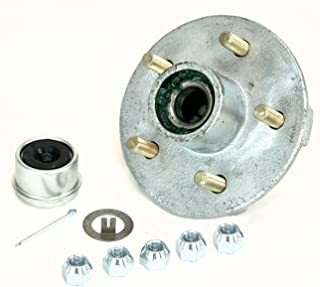 """CE Smith Trailer Tapered 1-3/8"""" to 1-1/16"""" Stud (5 X 4 1/2) Galvanized Trailer Hub Kit, Silver"""