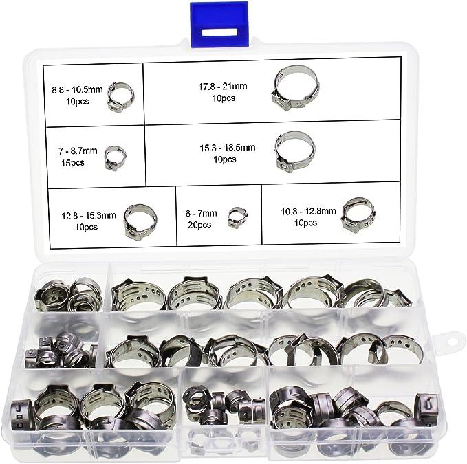 425 opinioni per HSEAMALL 85PCS 7-21mm fascette per fascette singole per orecchio in acciaio