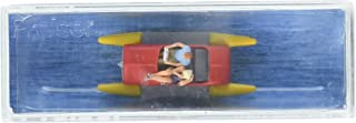 10684 Pedal Boat w/Couple Red, Yellow HO Scale Figure
