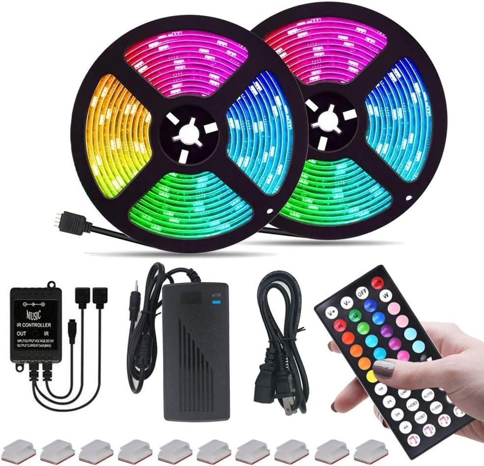 LED Strip Max 70% OFF Lights RGB 600leds Direct store 32.8ft 10M 5050 Flex Color Changing
