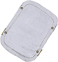 "Sellstrom Aluminized Fiberglass, High Temp Double Layer Welding Hand Pad, Silver/Yellow, 5.75"" x 8, S97700"