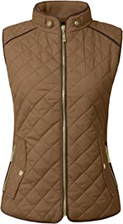 NE PEOPLE Womens Lightweight Quilted Padding Zip Up Vest Gilet(S-3XL)