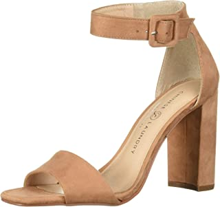 Chinese Laundry Women's JETTIE Heeled Sandal, latte suede, 8.5 M US