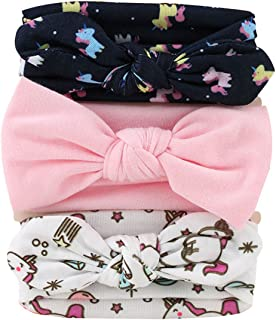 Queenbox 3pcs Baby Hairband Girl Rabbit Ear Elastic Hair Accessories Headbands