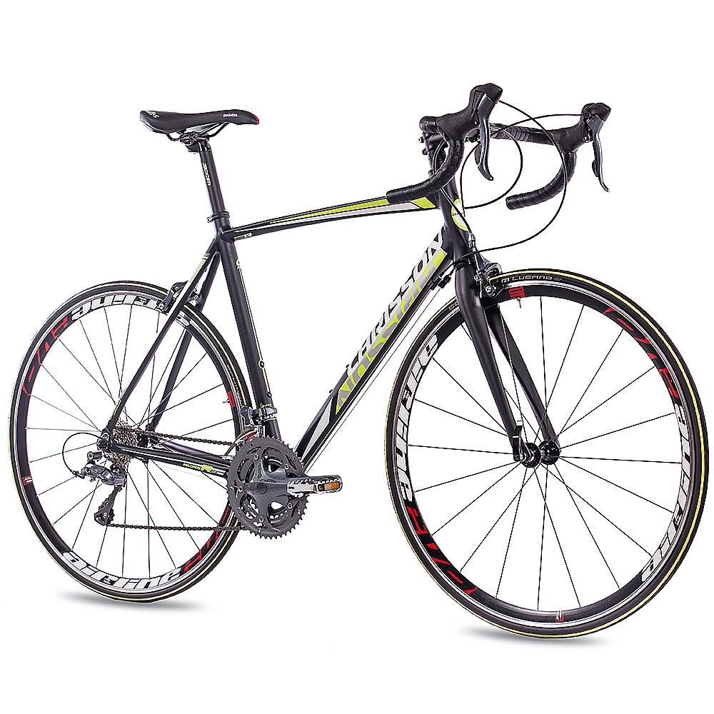CHRISSON - Bicicleta de carreras de 28 pulgadas - Reloader negro con cambio Shimano Claris de 24 velocidades -