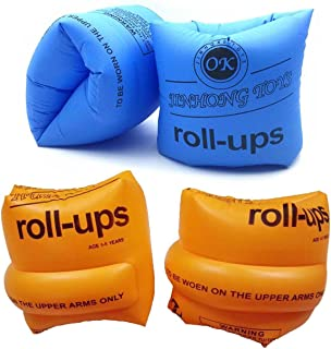 Topsung Floaties Inflatable Swim Arm Bands Rings Floats Tube Armlets for Kids and Adult
