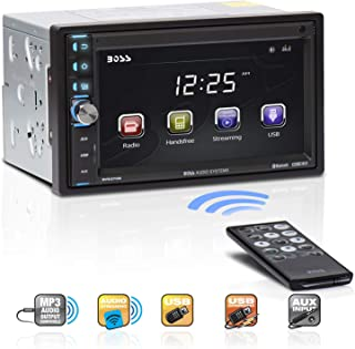 BOSS Audio Systems BV9370B Car Stereo - Double Din, Bluetooth Audio Hands-Free Calling, 6.5 Inch Touchscreen LCD Monitor, MP3 Player, USB Port, SD Card Slot, AUX Input, AM FM Radio Receiver, No CD DVD