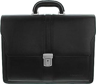 Unbekannt Bag Street Aktentasche Herren schwarz Kunstleder-Aktentasche Aktenkoffer Bürotasche, ohne, Schwarz