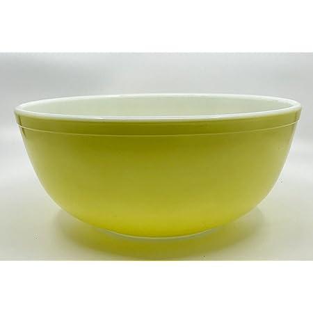 "Vintage Pyrex "" YELLOW "" 4 Quart Mixing Batter Nesting Bowl #404"