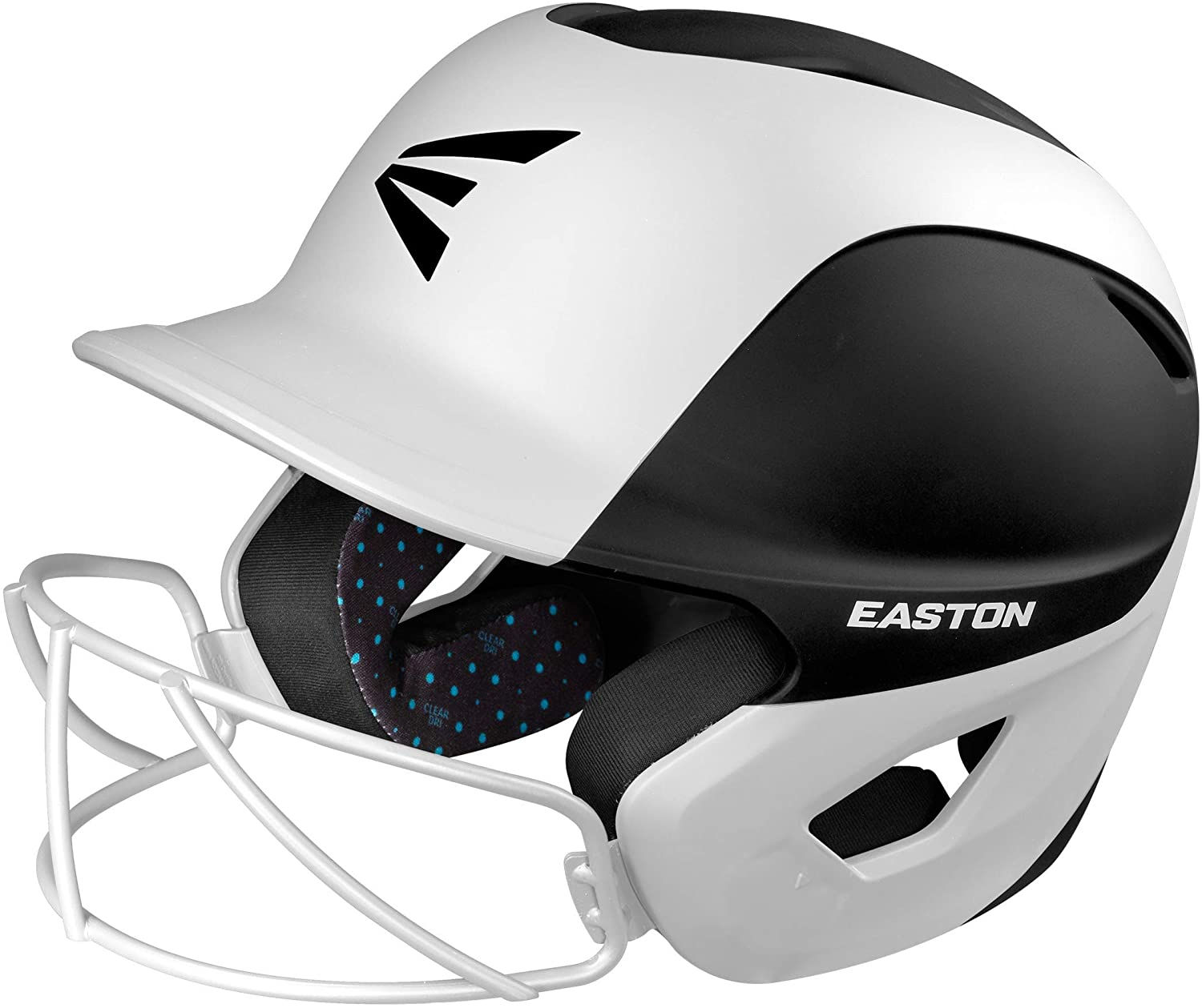 EASTON GHOST Special price for a limited time Max 50% OFF Softball Batting Helmet Matt Two-Tone Black White