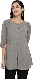 indietoga Women's Cotton Tunic Top (Small to Plus Size Top 7XL)