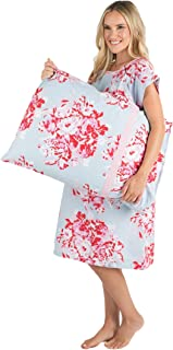 Gownies - Labor and delivery Maternity Hospital Gown and Pillowcase Set, Hospital Bag Must Have, Best