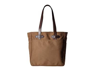 Filson Tote Bag Without Zipper (Sepia) Tote Handbags