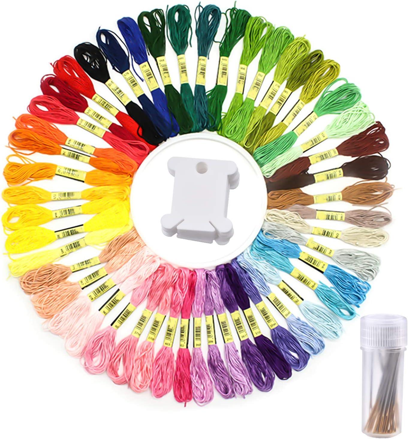 Outstanding Aylifu Embroidery Floss Set 50 Cross Color Sale item Skeins Rainbow Stitc