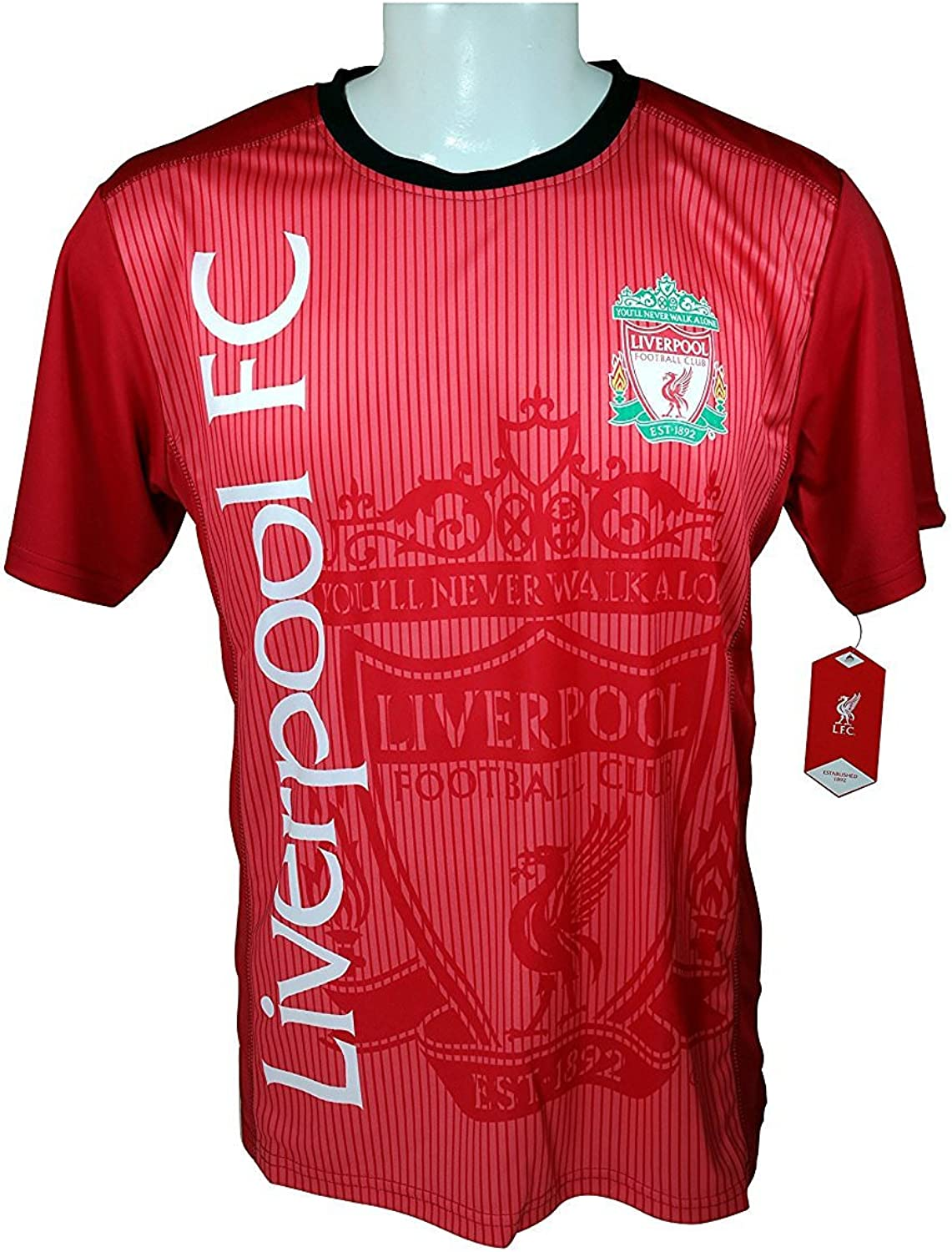 Liverpool F.C. Soccer Official Adult Soccer Training Performance Poly Jersey J018