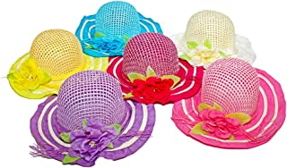 Lil Princess Girls Tea Party Princess Dress-up Colorful Costume Hats 6 Assorted Colors, Kids 2-5