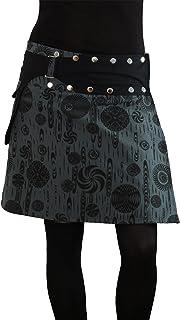 PUREWONDER Mujer Minifalda Cruzada Goa Lana S117