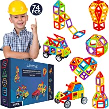 Limmys Magnetic Building Blocks – Unique Travel Series Construction Toys for Boys and Girls – STEM Educational Toy is a Includes 74 Pieces and an Idea Book
