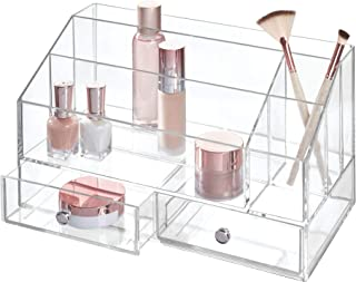 iDesign Plastic Tiered Divided Cosmetic Organizer with Drawers for Storage of Makeup, and Accessories on Vanity, Countertop, or Cabinet, 12.97