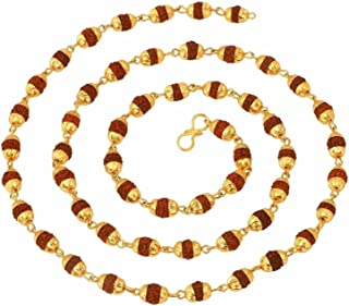 ZIVOM® Rudraksh Spatik Gold Plated Mala Chain