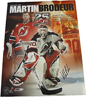 Martin Brodeur Autographed New Jersey Devils 11x14 Photo W/PROOF, Picture of Martin Signing For Us, New Jersey Devils, Team Canada, Stanley Cup, Olympics, Gold Medal, Vezina Trophy, Calder Trophy