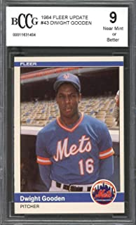 1984 fleer update #43 DWIGHT GOODEN new york mets rookie card BGS BCCG 9 Graded Card