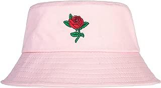 Unisex Fashion Embroidered Bucket Hat Summer Fisherman Cap for Men Women