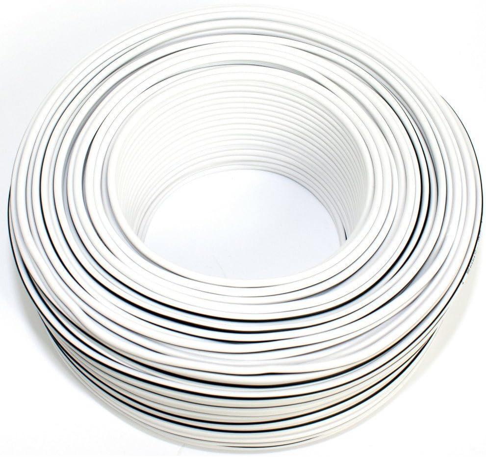 Lautsprecherkabel Weiss Schwarz 2x 1 50mm 50m Ring Elektronik