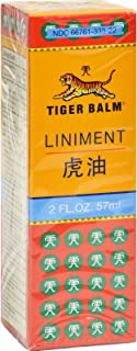 Tiger Balm Liniment - for Temporary Relief for Aches and Pains - 2 fl oz (Pack of 2)