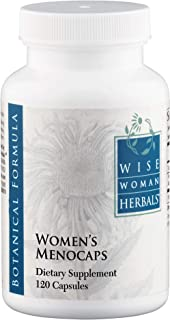 Wise Woman Herbals – Women's Menocaps – 120 caps - All-Natural Menopause and Puberty Supplement - for Hot Flashes, Mood Swings and Night Sweats During Menopause, Promotes Emotional Balance