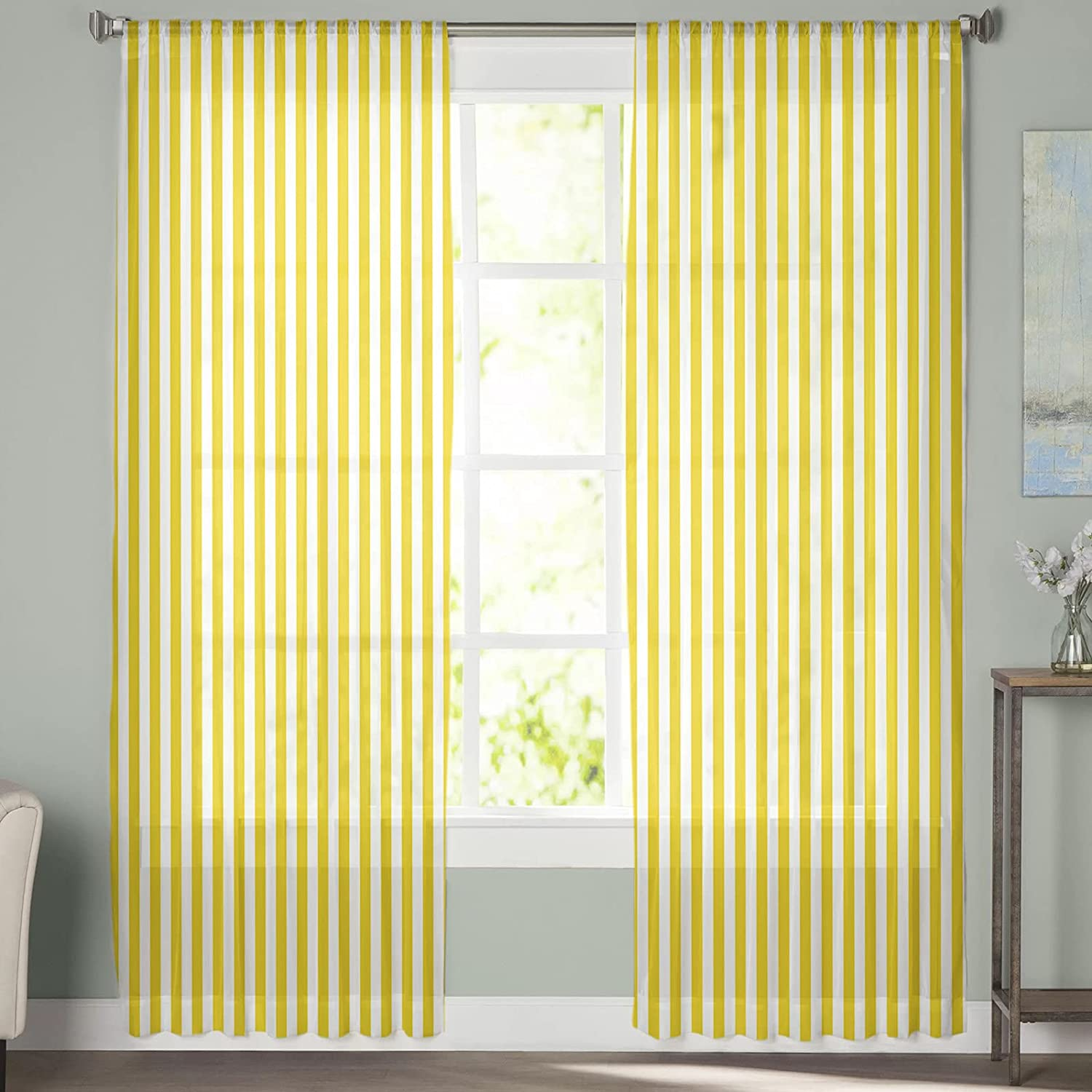 2pc Set Sheer Special sale item Curtains for Bedroom San Diego Mall Pattern Rod P Windows Simple