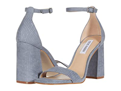 Steve Madden Dillion Heeled Sandal (Blue Lizard) Women