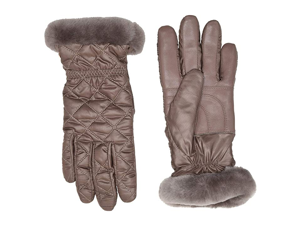 UGG Quilted All Weather Water Resistant Tech Gloves (Stormy Grey) Extreme Cold Weather Gloves